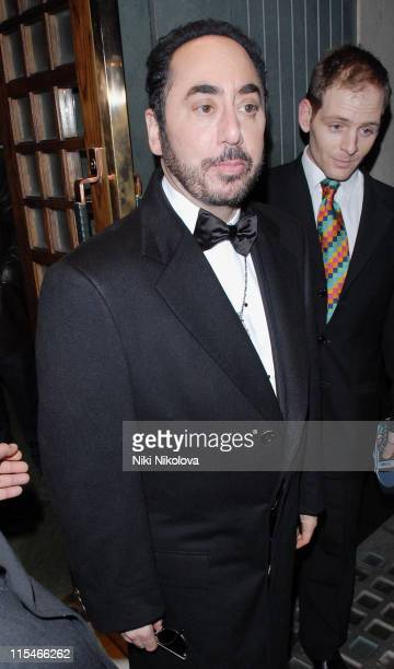 David Gest during David Gest Sighting at The Ivy in London December 4 2006 at Ivy Restaurant in London Great Britain