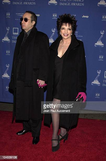 David Gest fiancee Liza Minnelli during The 33rd NAACP Image Awards Arrivals at Universal Studios in Universal City California United States