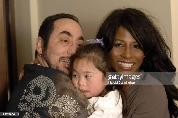 David Gest Isabella Costello and Sinitta during David Gest and Sinitta Become the New Ambassadors for the Caudwell Children Charity at Grosvenor...