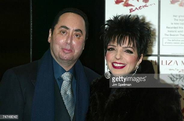 David Gest Liza Minnelli at the Tower Records in New York City New York