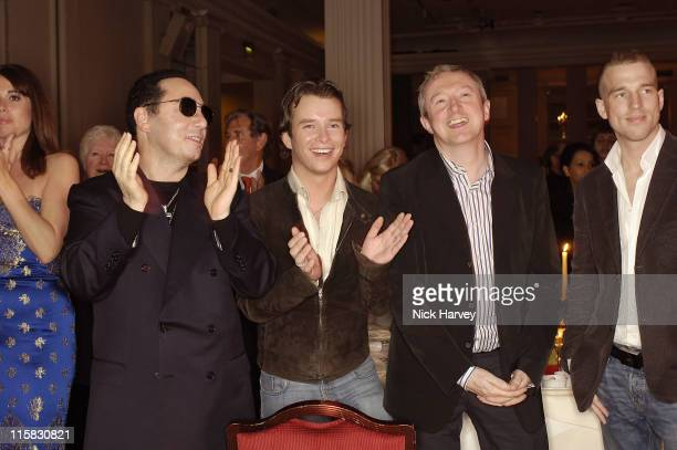 David Gest Stephen Gately and Louis Walsh during Smokey Robinson's 50th Anniversary All Star Salute – Inside at Grosvenor House in London Great...