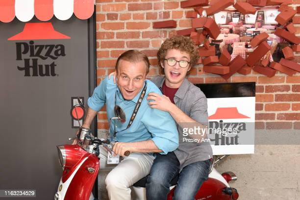 David Giambrone and Sean Giambrone of 'The Goldbergs' attend the Pizza Hut Lounge at 2019 ComicCon International San Diego on July 20 2019 in San...