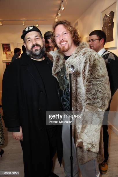 David Gibson and Gregory De La Haba attend Opening of IN STITCHES Curated by BETH RUDIN DeWOODY at Leila TaghiniaMilani Heller Gallery on November 12...