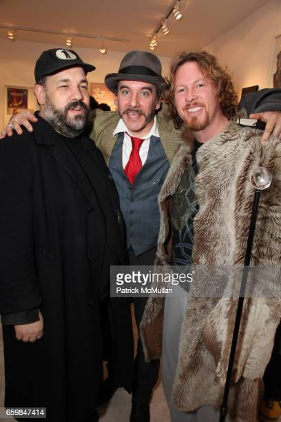 David Gibson Victor Sheely and Gregory De La Haba attend Opening of IN STITCHES Curated by BETH RUDIN DeWOODY at Leila TaghiniaMilani Heller Gallery...
