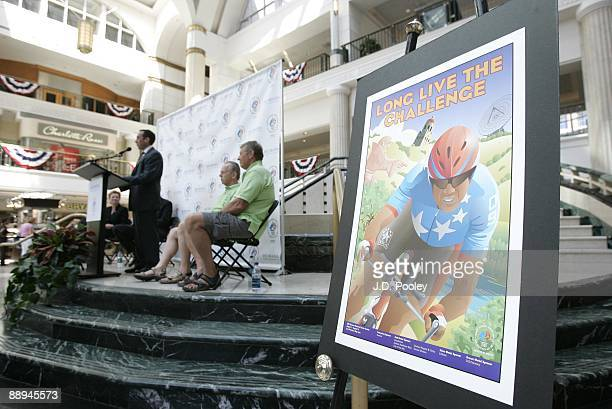 David Gilbert of the Cleveland Sports Commission speaks during the 2009 Humana & National Senior Games Athlete send-off tour at Tower City Center -...