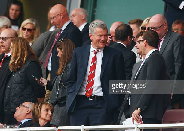 David Gill ahead of the Barclays Premier League match between Arsenal and Manchester United at Emirates Stadium on October 4 2015 in London England