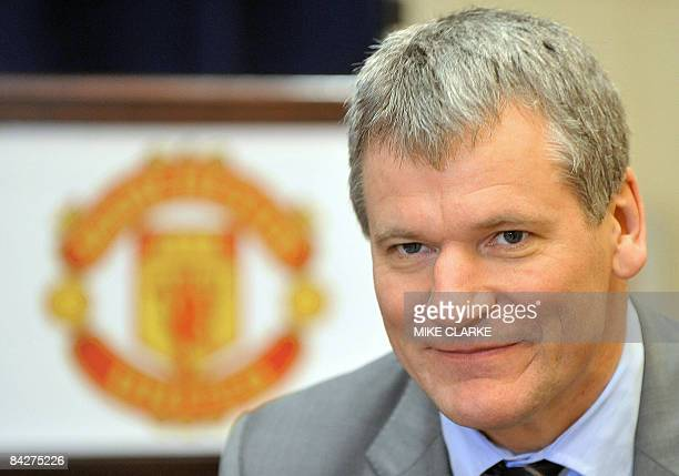 David Gill Chief Executive of Manchester United Football Club speaks during an interview with AFP in Macau on January 14 2009 Manchester United will...