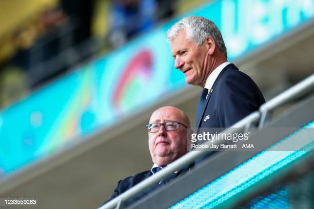 David Gill the Vice-President of the UEFA Executive Committee during the UEFA Euro 2020 Championship Group D match between England and Scotland at...