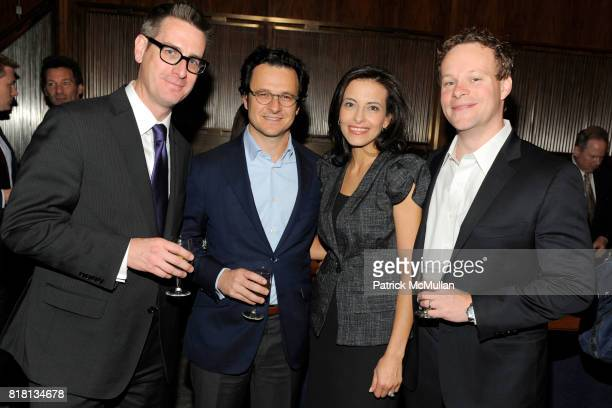 David Gillen Russell Horowitz Dina Powell and Chris Licht attend THE NEW YORK TIMES Celebrates the Expansion of DEALBOOK at The Four Seasons...
