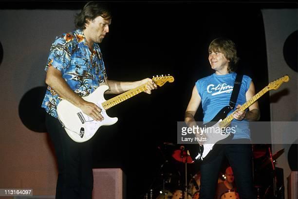 David Gilmour and Mick Ralphs perform in Sacramento California on June 28 1984