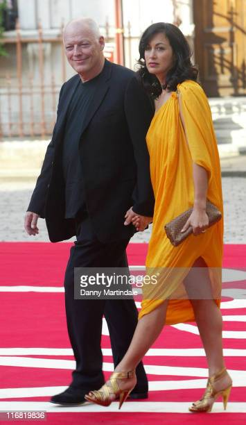David Gilmour and wife Polly Samson arrive at the Royal Academy of Arts Summer Exhibition on June 4, 2008 in London, United Kingdom.