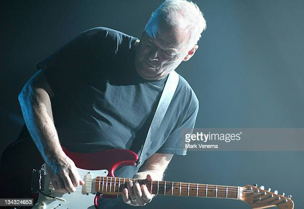 David Gilmour during David Gilmour in Concert at the Heineken Music Hall in Amsterdam - March 19, 2006 at Heineken Music Hall in Amsterdam,...