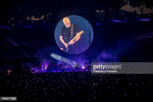 David Gilmour performs at Anfiteatro Scavi di Pomei on July 7 2016 in Pompei Italy