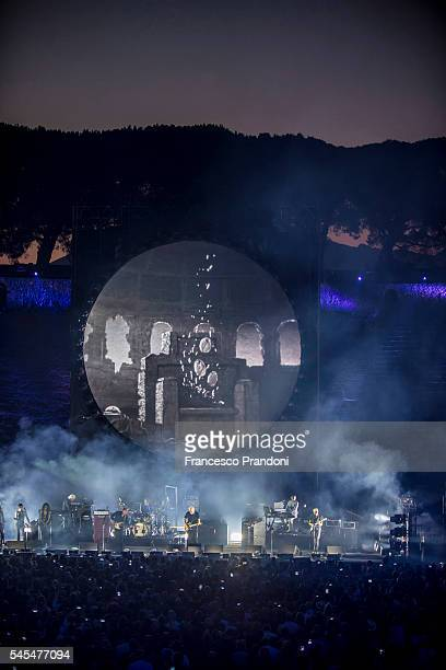 David Gilmour performs at Anfiteatro Scavi di Pomei on July 7 2016 in Pompei Italy