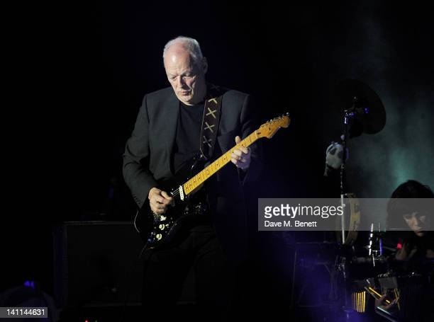 David Gilmour performs at Douglas Adams: The Party, celebrating what would have been the author's 60th birthday, at the HMV Hammersmith Apollo on...