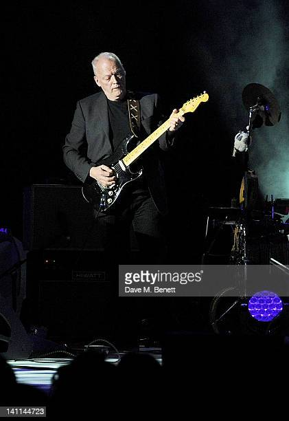 David Gilmour performs at Douglas Adams The Party celebrating what would have been the author's 60th birthday at the HMV Hammersmith Apollo on March...