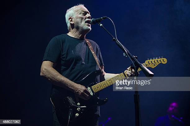 David Gilmour performs at Pula Arena on September 12, 2015 in Pula, Croatia.