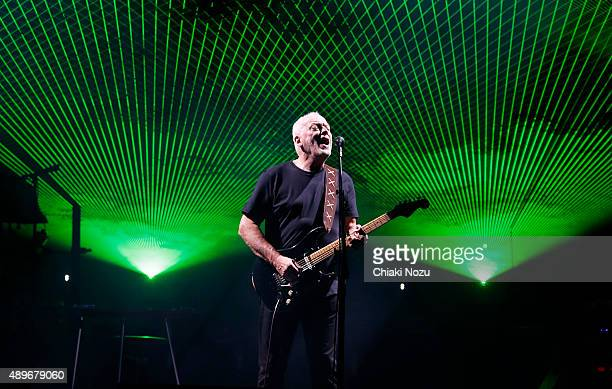 David Gilmour performs at Royal Albert Hall on September 23 2015 in London England