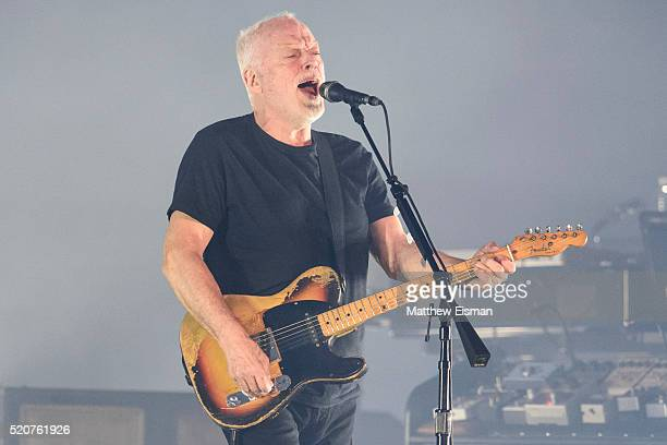 David Gilmour performs live on stage at Madison Square Garden on April 12, 2016 in New York City.