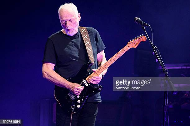 David Gilmour performs live on stage at Madison Square Garden on April 12 2016 in New York City