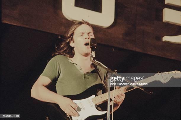 David Gilmour Pink Floyd playing at Hakone Aphrodite Kanagawa August 6 1971