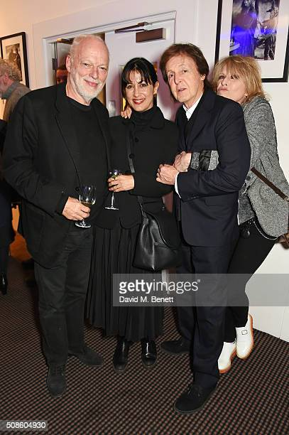 David Gilmour Polly Samson Sir Paul McCartney and Chrissie Hynde attend a cast and crew screening of 'This Beautiful Fantastic' at BAFTA on February...