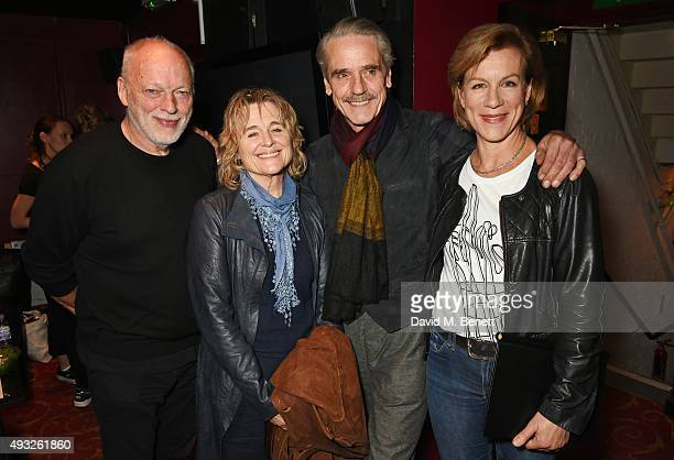 David Gilmour Sinead Cusack Jeremy Irons and Juliet Stevenson attend I'm With The Banned presented by the Belarus Free Theatre in celebration of...