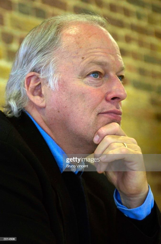 David Gilmour the Pink Floyd guitarist speaks at the Crisis Urban Village press conference May 20, 2003 at 66 Comercial Street, London, England. Gilmour has donated 3.6 Million pounds from the sale of his London home to fund the project Crisis 'Urban Village' for the homeless.