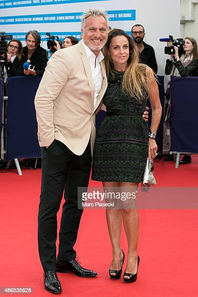 David Ginola and Coraline attend the 41st Deauville American Film Festival Opening Ceremony on September 4 2015 in Deauville France