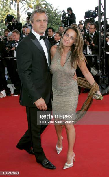 David Ginola and Coraline during 2005 Cannes Film Festival 'Star Wars Episode III Revenge of the Sith' Premiere in Cannes France