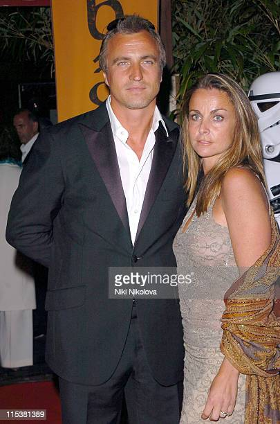 David Ginola and Coraline Ginola during 2005 Cannes Film Festival Star Wars Afterparty in Cannes France