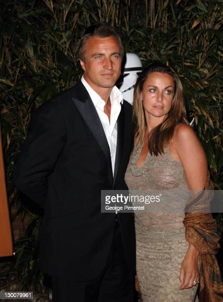 David Ginola and Coraline Ginola during 2005 Cannes Film Festival Star Wars Episode III Revenge of the Sith Premiere After Party in Cannes France