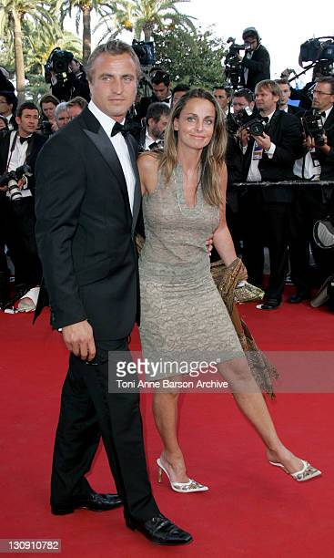 David Ginola and Coraline Ginola during 2005 Cannes Film Festival 'Star Wars Episode III Revenge of the Sith' Premiere in Cannes France