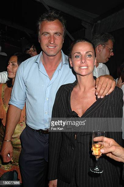 David Ginola and Coraline Ginola during Cannes Film Festival 2005 The Last Drop Premiere After Party at VIP Room Palm Beach in Cannes France