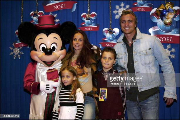 David Ginola and his wife Coraline and their children Carla and Andrea