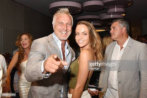 David Ginola and his wife Coraline Ginola attend the Massimo Gargia Birthday Party at Hotel de Paris of Saint Tropez on August 21 2016 in SaintTropez...