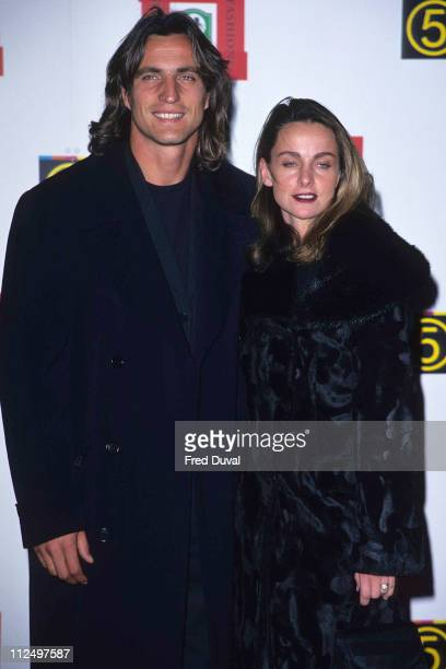 David Ginola and partner 1st October 1997 during David Ginola File Pictures at Royal Albert Hall in London Great Britain