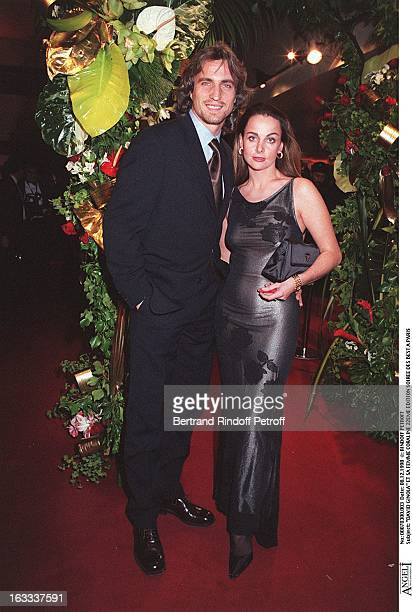 David Ginola and wife Coraline at The 22nd Edition Of Soiree Des Best In Paris