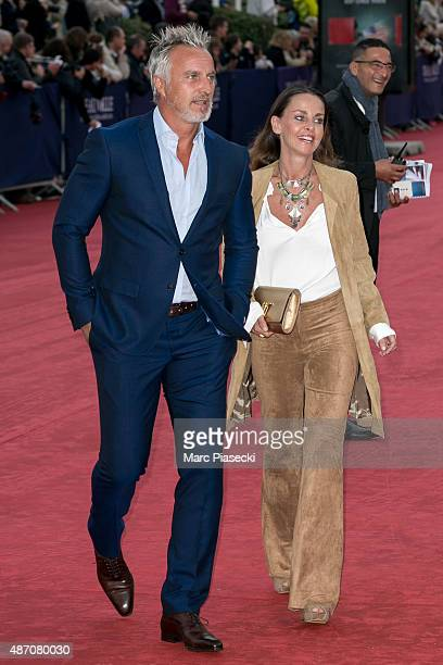 David Ginola and wife Coraline attend the 'Life' Premiere during the 41st Deauville American Film Festival on September 5 2015 in Deauville France