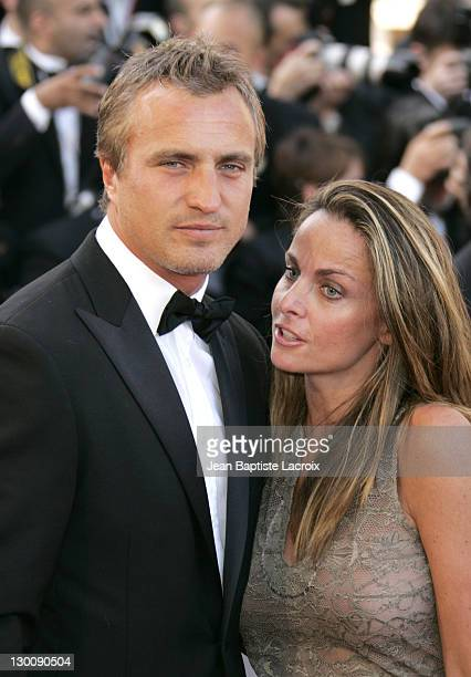 David Ginola and wife Coraline during 2005 Cannes Film Festival Star Wars Episode III Revenge of the Sith Premiere in Cannes France