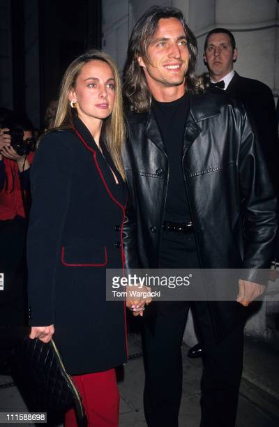 David Ginola and wife Coraline during 'The Man In The Iron Mask' After Party in London Great Britain