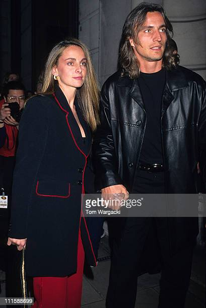 David Ginola and wife Coraline during The Man In The Iron Mask After Party in London Great Britain