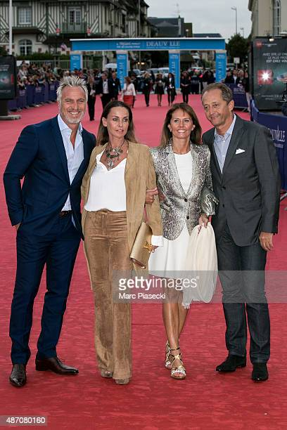 David Ginola his wife Coraline and guests attend the 'Life' Premiere during the 41st Deauville American Film Festival on September 5 2015 in...