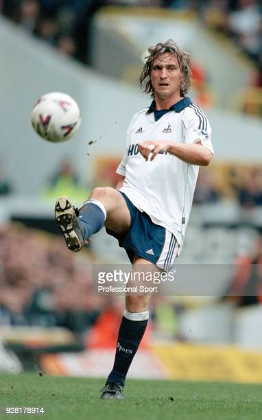 David Ginola of Tottenham Hotspur in action during the FA Carling Premiership match between Tottenham Hotspur and Southampton at White Hart Lane on...