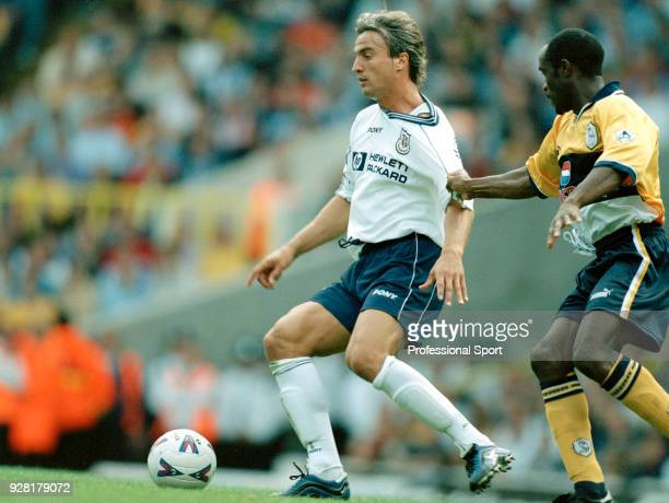 David Ginola of Tottenham Hotspur in action during the FA Carling Premiership match between Tottenham Hotspur and Sheffield Wednesday at White Hart...