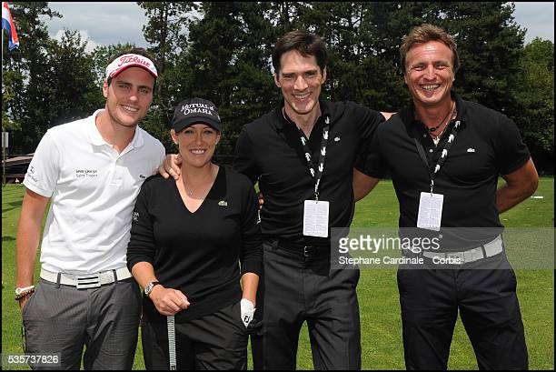 David Ginola, Thomas Gibson, Cristie Kerr and Andrea Ginola attend the Evian Masters 2011.