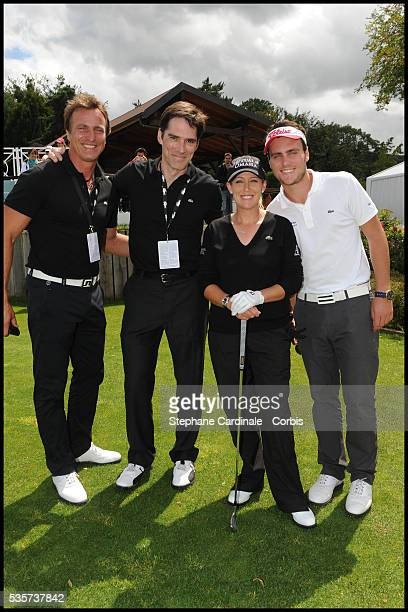 David Ginola, Thomas Gibson, Cristie Kerr and Andrea Ginola attend the Evian Masters 2011