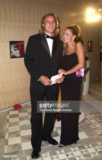 David Ginola Wife during Red Cross Ball 2001 Arrivals at MonteCarlo Sporting Club in MonteCarlo Monaco