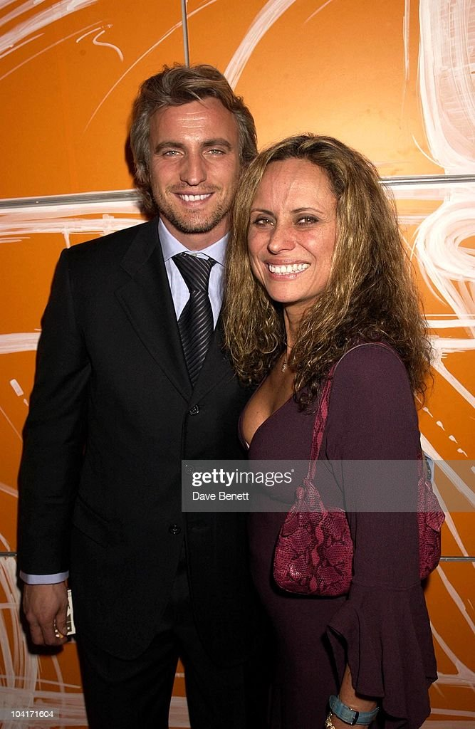 David Ginola With Jim Capaldi's Wife, Designs Of The Times Auction Launch Party, At The Audi Forum, On Behalf Of The Norwood And Demelza House