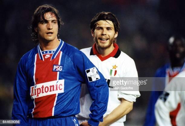 David GINOLA / Zvonimir BOBAN - - PSG / Milan AC - Champions League, Photo: Alain Gadroffre / Icon Sport